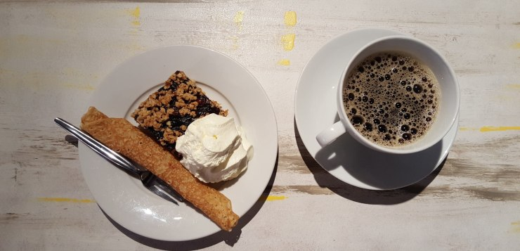 The Coziest Café in Reykjavik has guilty pleasures: traditional Icelandic pancake, with marriage bliss cake with cream and coffee.