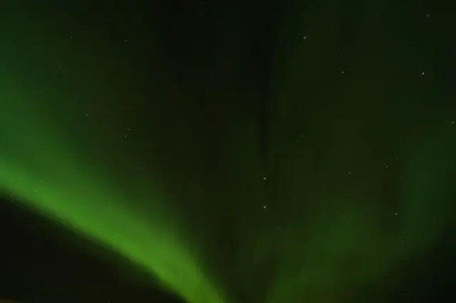 Shelita found the elusive northern lights. That counts as luck.