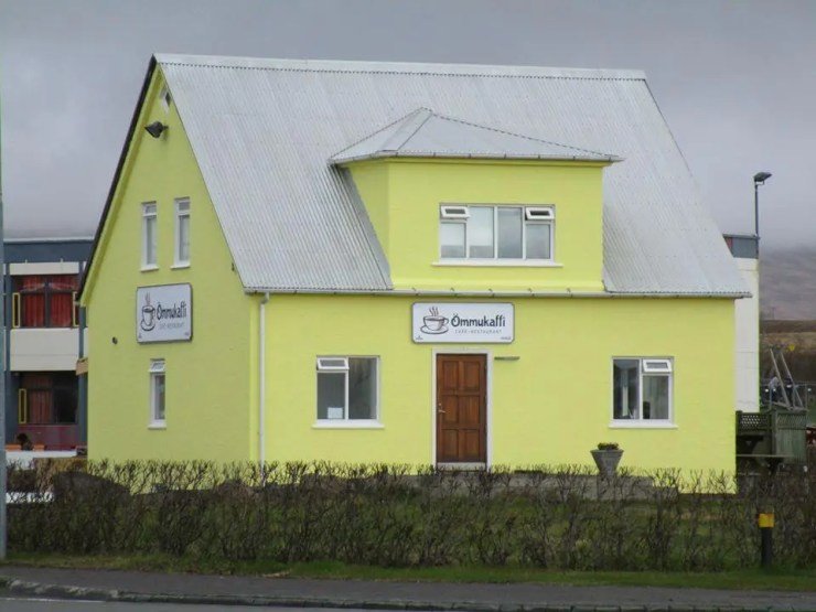 Ömmukaffi Café in Blönduós in the North West of Iceland.