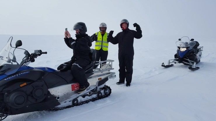 Yes kids, snowmobiling is fun.