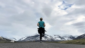Running in Iceland!