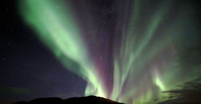 Iceland northern lights put on a spectacular show.