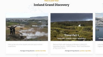 Home screen of the Iceland Travel Companion app.