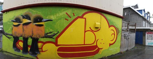 Arty graffiti photo in Reykjavik.