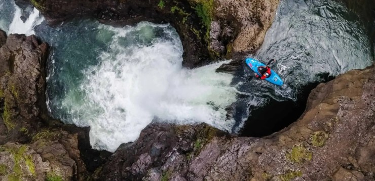 Kayaking in Iceland involves frigid water and wild waterfalls!