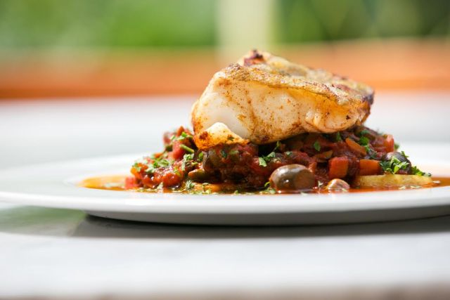 We love the seafood at Snaps Restaurant.