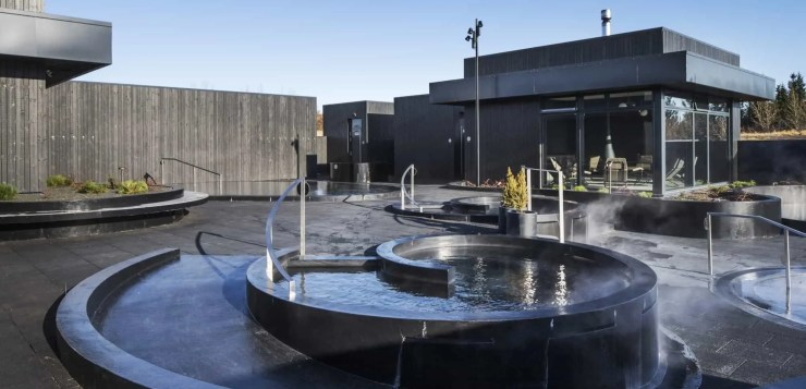 The Icelandic Krauma Geothermal Baths and spa.