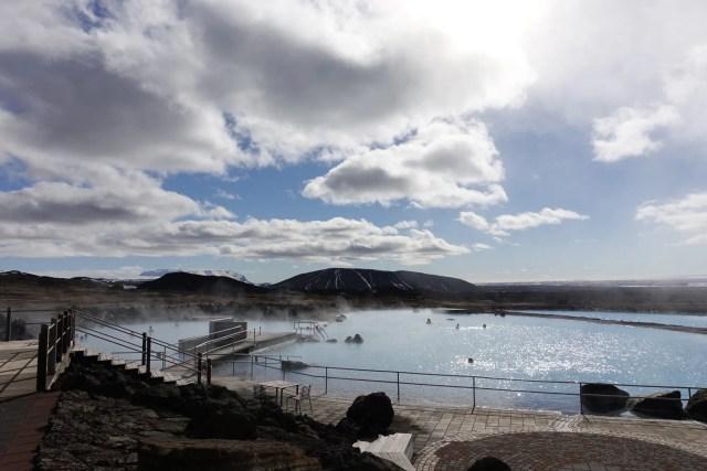 Nice day at the Lake Myvatn Nature baths.