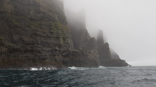 No this is not from Lord of the Rings or Game of Thrones. These are Faroese sea cliffs.