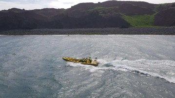Rib boating in the Westman Islands