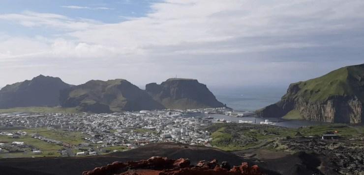 The Westman Islands as seen from Mt. Eldfell.