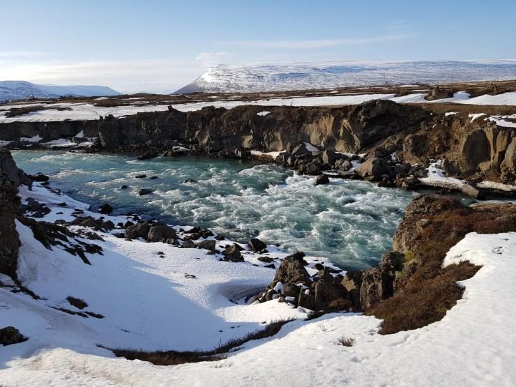 Goðafoss Waterfall.