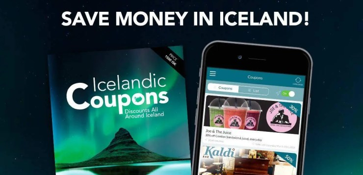 The Coupons. app will help you save money in Iceland.