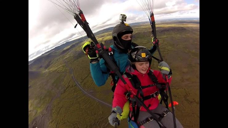 Tandem Paragliding in Iceland.