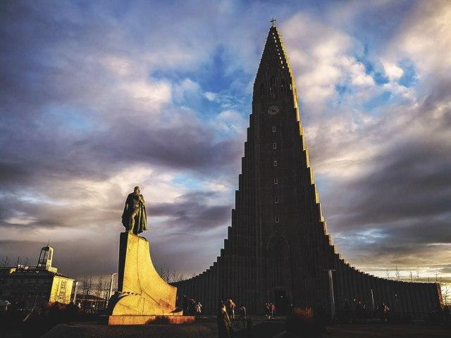 Hallgrímskirkja church in Reykjavik. Photo by Mehdi Giaimo.