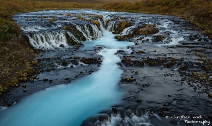 Brúarfoss waterfall in Iceland. Photo by Christian Koch.