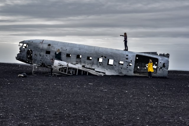 The famous DC3 plane wreck on Sólheimasandur in Iceland.