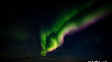 New northern lights can potentially help you find the northern lights in Iceland.