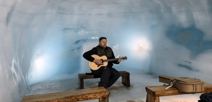Shallow from A Star is Born Performed Inside a Glacier