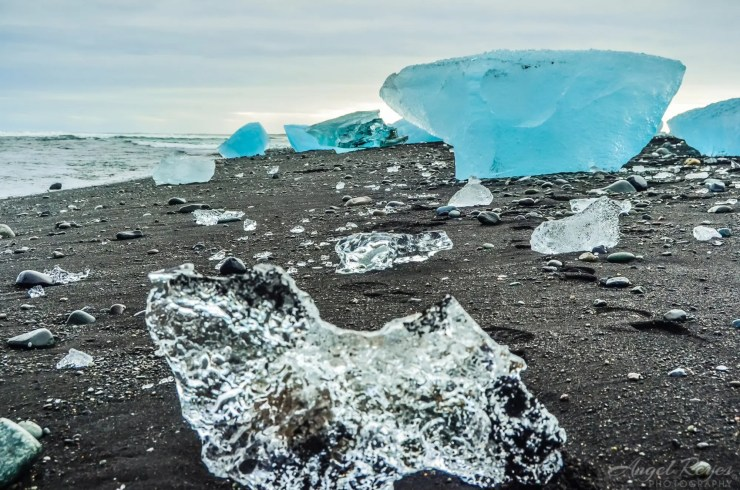 Diamond beach in Iceland.