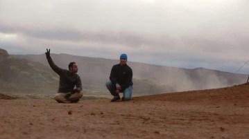 Two men in Mývatnssveit Iceland.