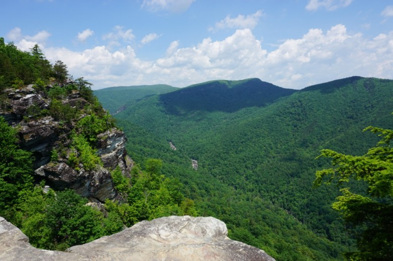 Linville Gorge near best places to stay in the North Carolina mountains