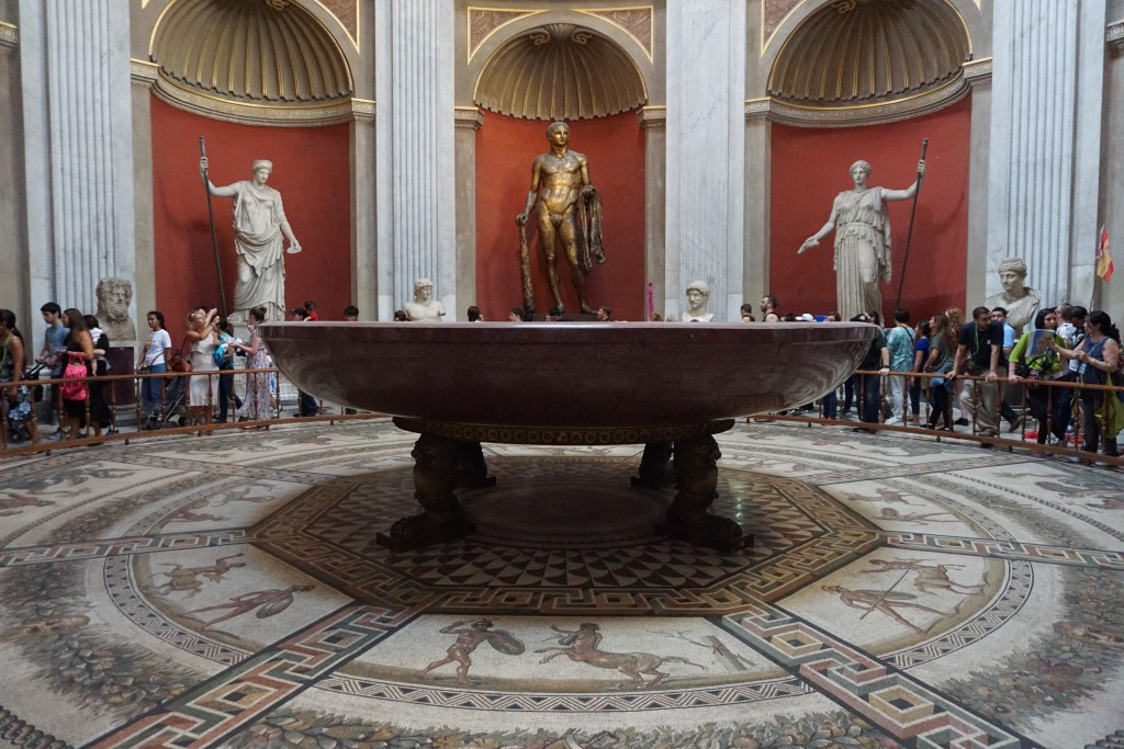 Pieces in the Vatican collection and even the floor is part of the collection. Vatican City is a must-see when it comes to what to do in Rome.