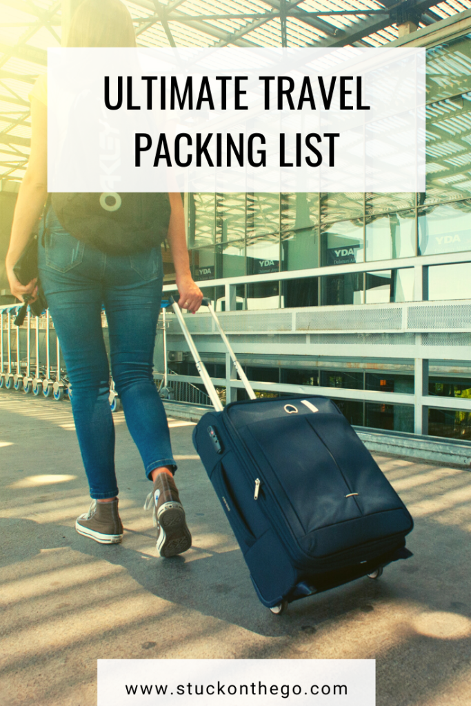 This ultimate travel packing list will make sure you don't miss anything on your next vacation! No matter what activity you're doing this packing list includes it. #travelpackinglist #whattopackforvacation