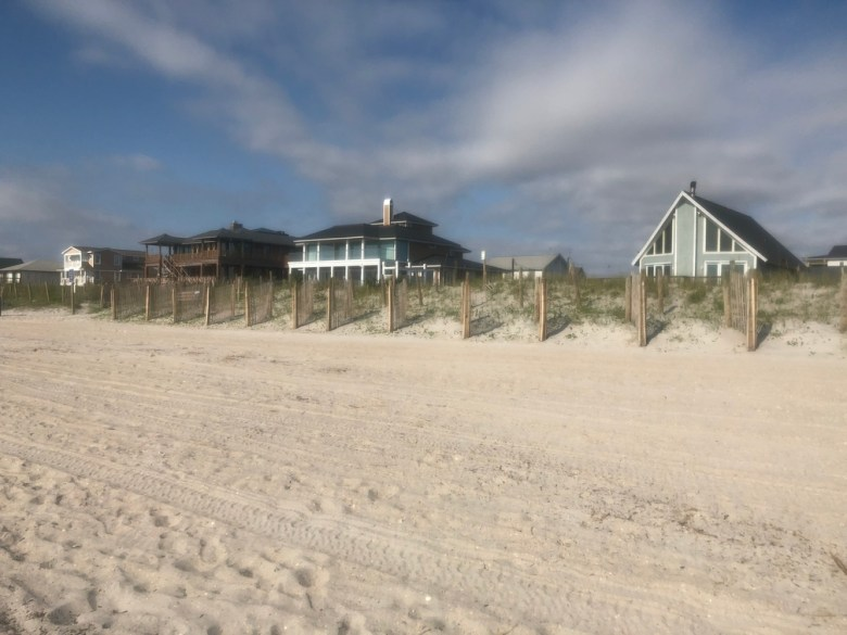 Beach houses just past the dunes. The perfect place to stay in North Carolina.