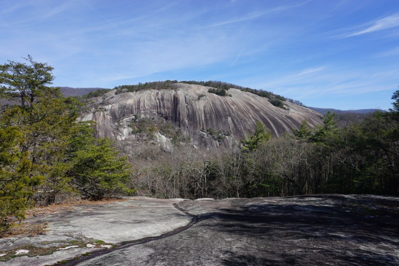 granite rock face at Stone Mountain - some of the best hiking in the Yadkin Valley