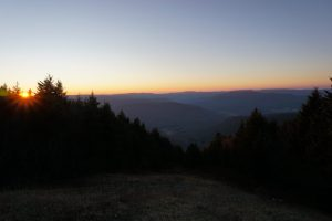 sunset in Snowshoe, WV