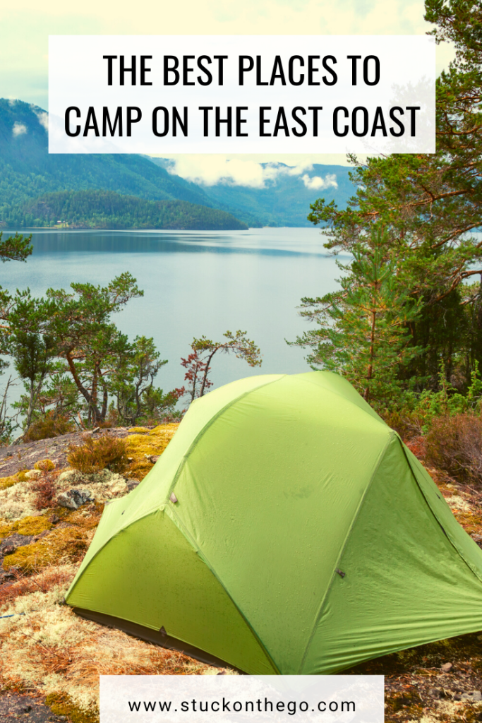 Looking for the best places to camp in the east coast? These are some great camping ideas in the east! From camping in Maine to Florida there's a camping spot for you on this list. #camping #eastcoast