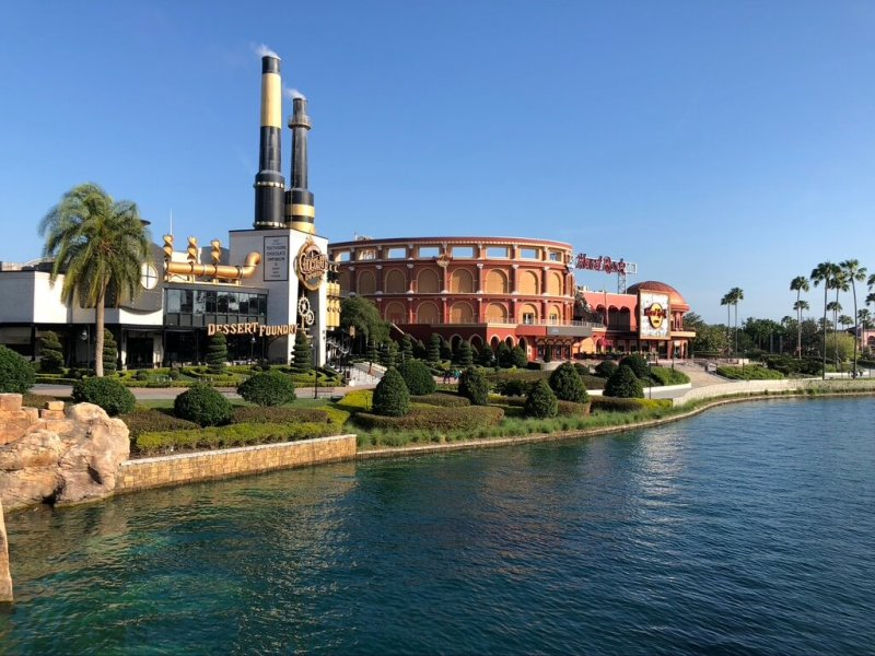 Two restaurants across the river on CityWalk. Making reservations is one of the top tips for visiting Universal Studios.