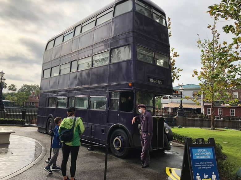 The three story purple Knight Bus from the Harry Potter Series.