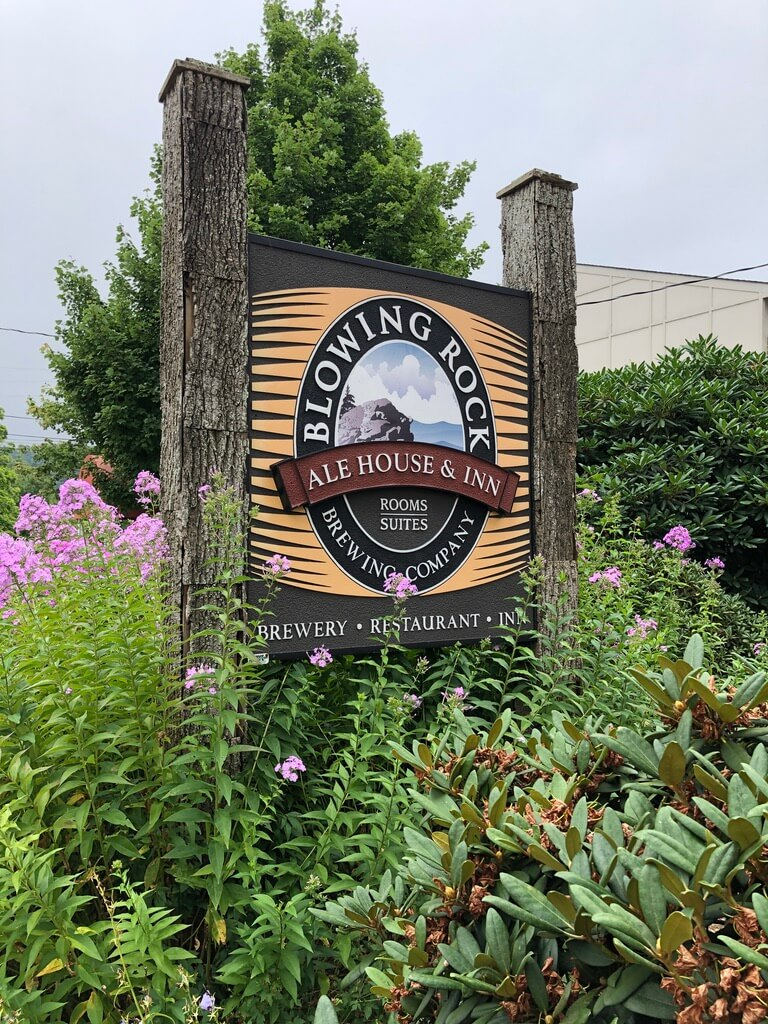 Blowing Rock Ale House sign things to do in Boone