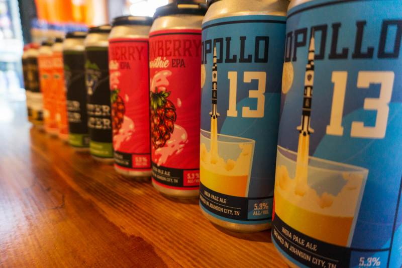 canned beer at breweries in Johnson City