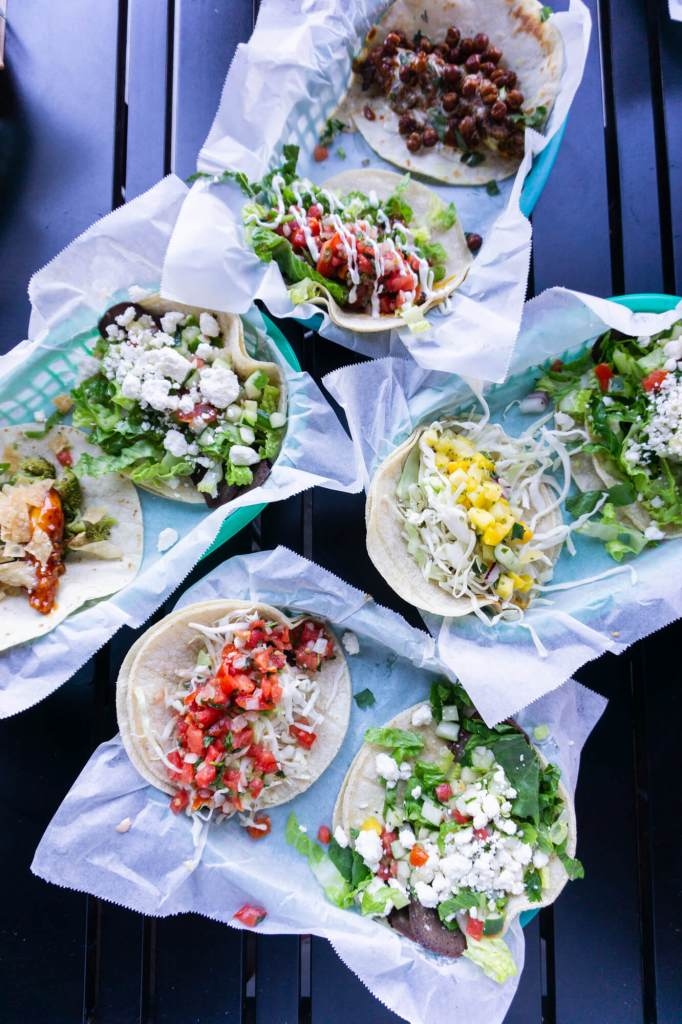 tacos on trays