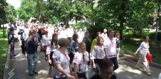 В Харькове прошёл Марш вышиванок (ВИДЕО)