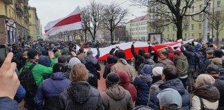 Протесты на День Воли в Беларуси