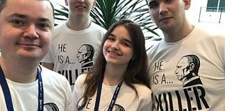 """""""Путин - убийца"""": украинские студенты выразили свою позицию на встрече с Трампом 1"""