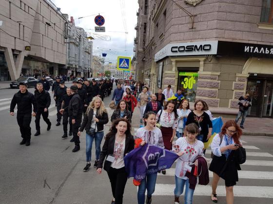 В Харькове прошёл марш вышиванок 17