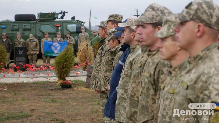 На горе Карачун открыли памятник Небесной Сотне и добровольцам, участвовавшим в освобождении Славянска 3