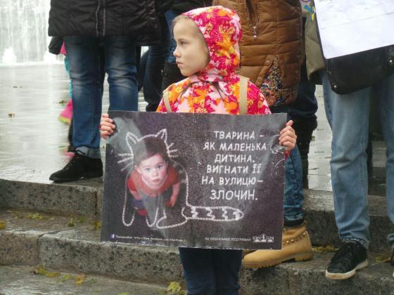 В Харькове митинговали за права животных 12