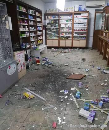 В очередной харьковской аптеке взорвали гранату 3