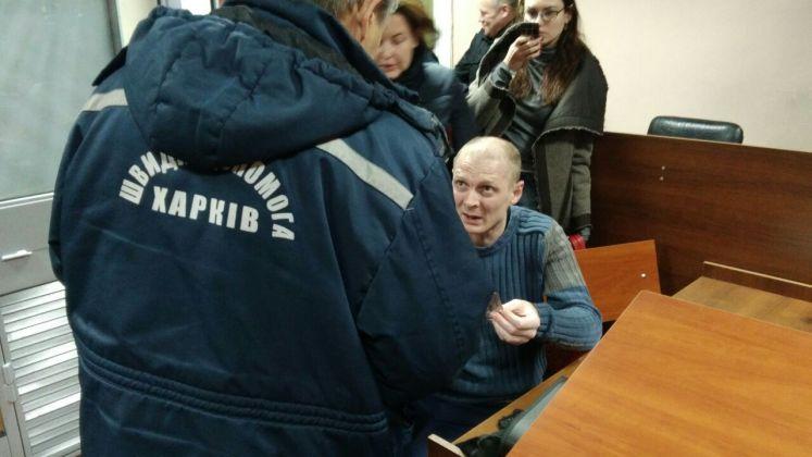 Харьковского сепаратиста Юдаева освободили в зале суда 3