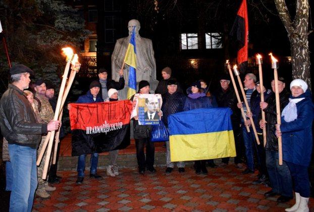 В Украине отпраздновали день рождения Степана Бандеры 13