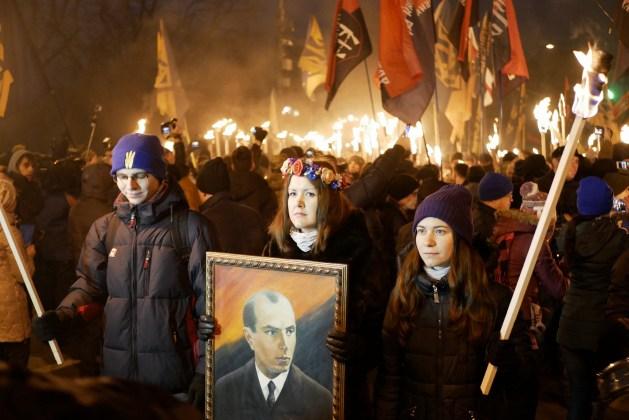 В Украине отпраздновали день рождения Степана Бандеры 14