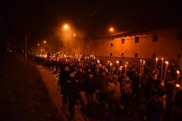 В Украине отпраздновали день рождения Степана Бандеры 26