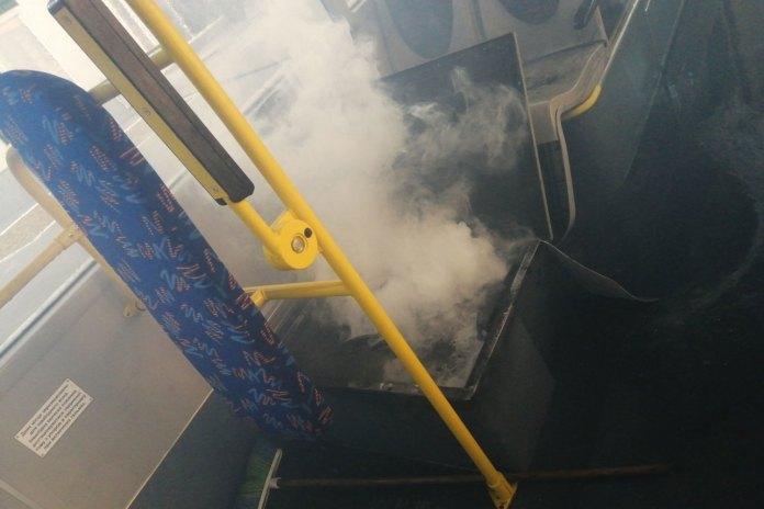 Пожежа у тролейбусі PTS 12