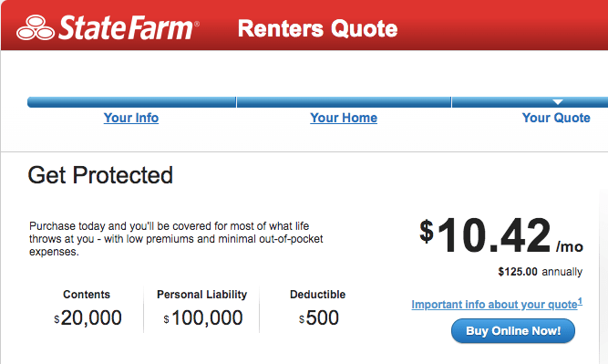 how much does state farm renters insurance cost, how much is state farm renters insurance
